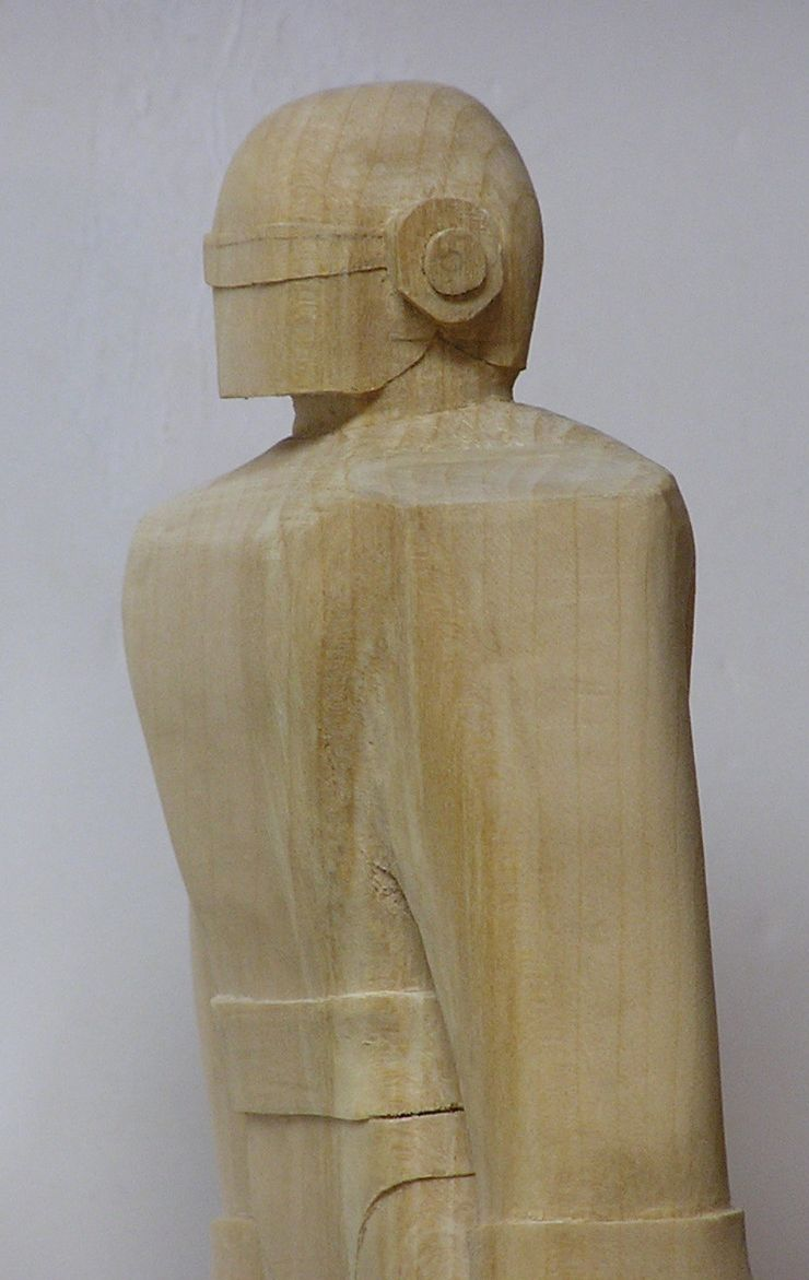 Gort Robot Wood Carving Statue