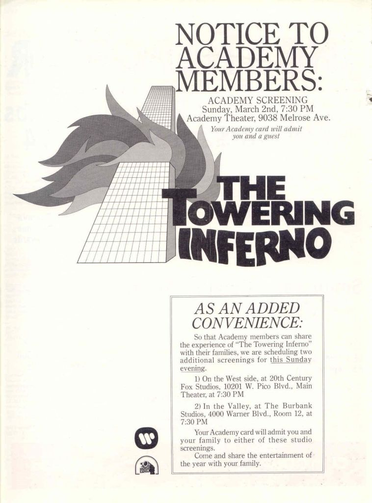 The Towering Inferno Ads